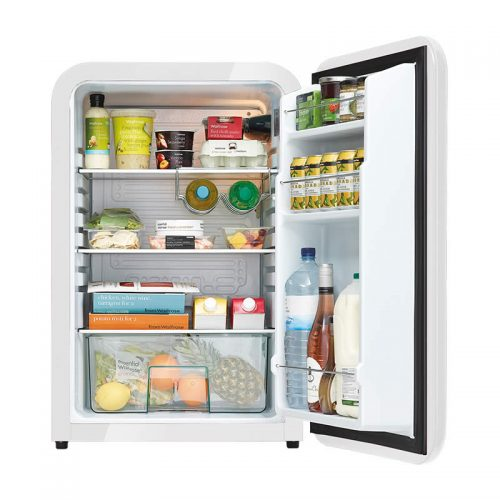 Husky Retro Bar Fridge in White - Stocked